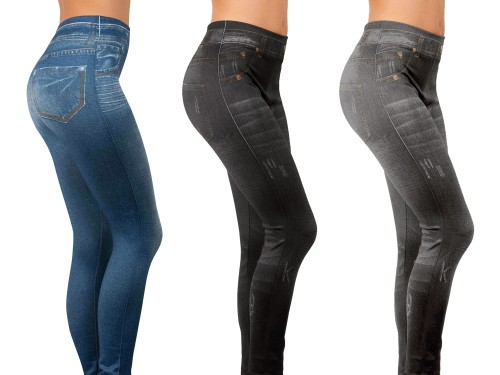Slim Jeggings Zeštíhlující džegíny Slim Jeggings, set 3 ks LiveActive